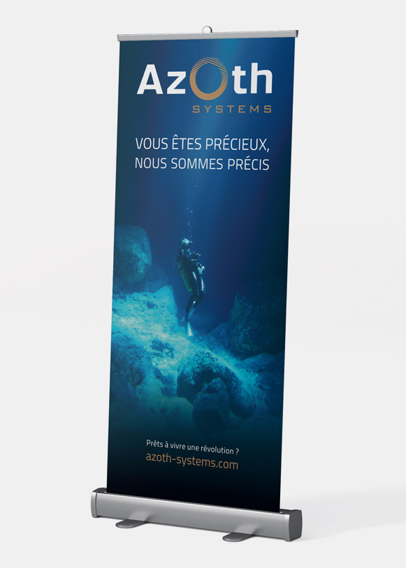 Roll-up d'intervention pour Azoth Systems