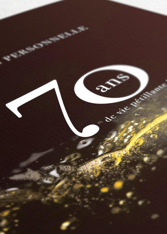 Couverture invitation pour l'anniversaire des 70 ans