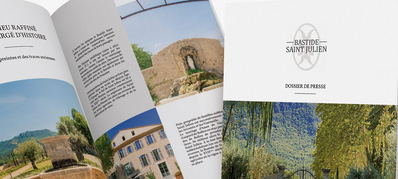 Dossier de presse pour la Bastide Saint Julien