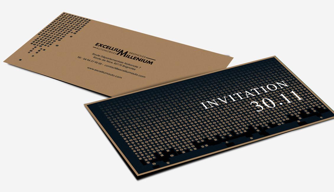 Invitation événement d'Excellium / Millenium Automobiles