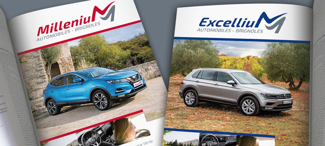 Publicité pour Excellium / Millenium Automobiles