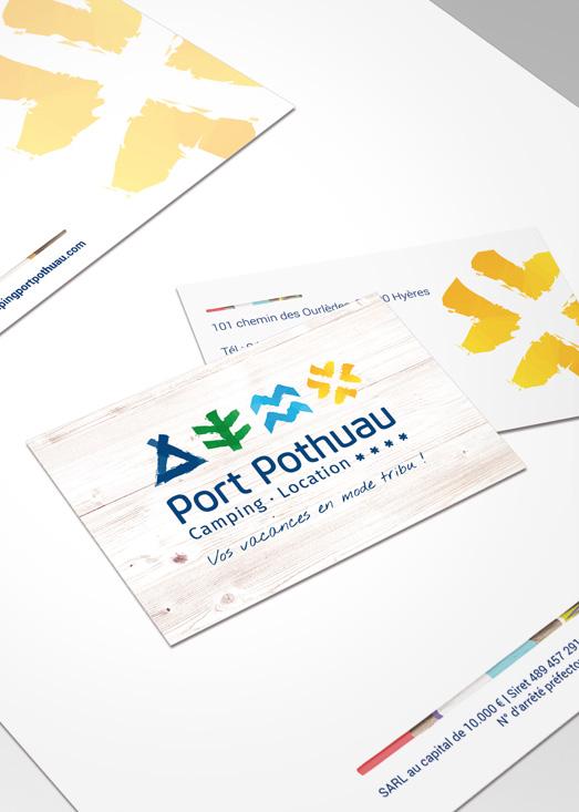 Carte de visite du camping Port Pothuau