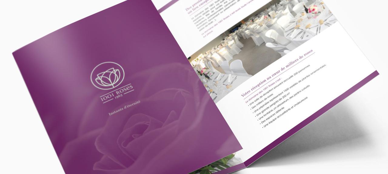 Plaquette pour la société 1001 Roses