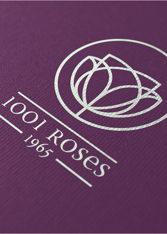 Nouvelle identité visuelle de 1001 Roses