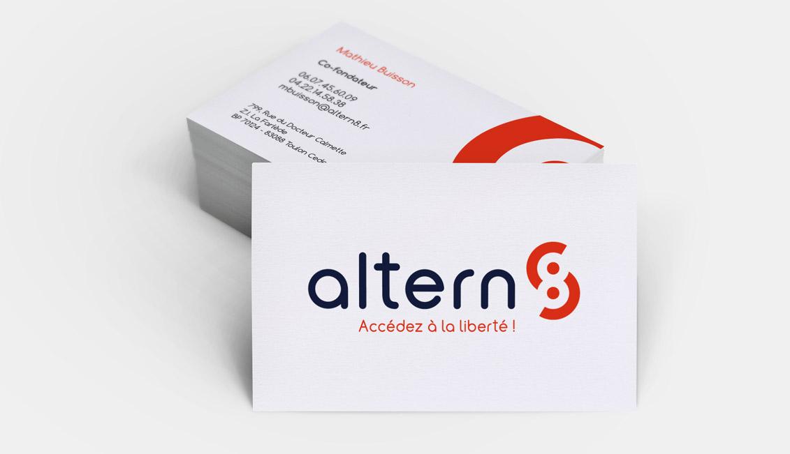 cartes de visite pour Altern8