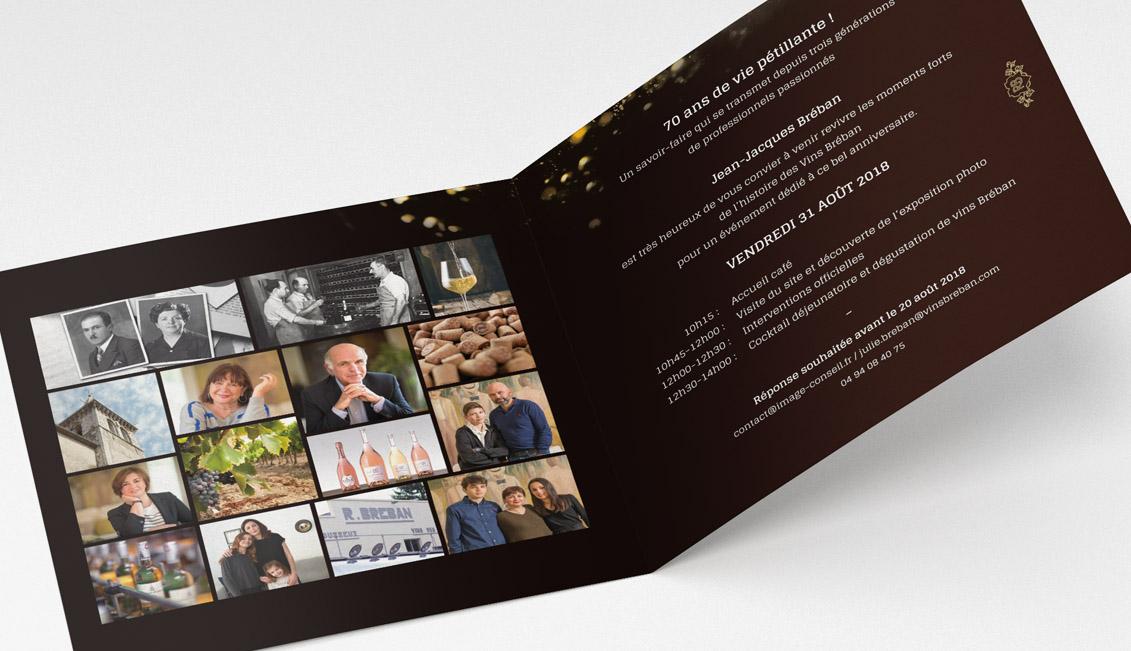 Invitation personnelle pour les 70 ans des Vins Bréban