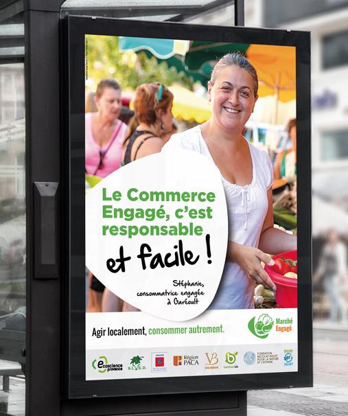 Affichage abribus pour Ecoscience Provence