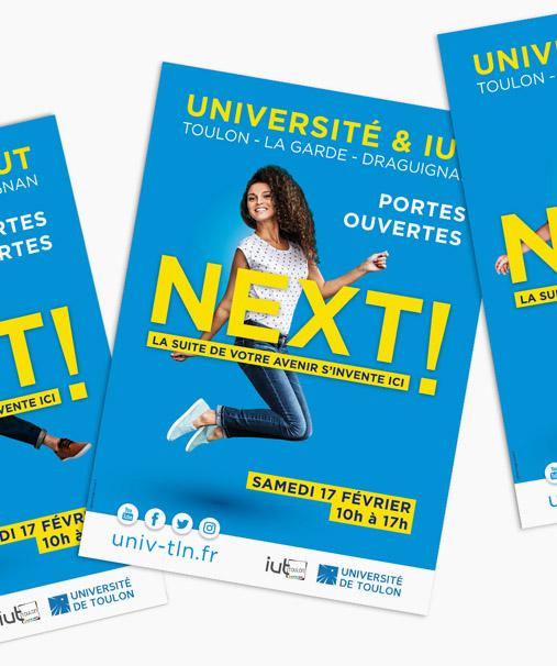 Flyers pour l'événement de l'universite de Toulon / La Garde